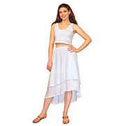 Gauzy 2-Layer Hi-Lo Dancer's Skirt