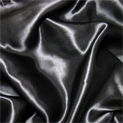 Black 12mm Charmeuse/Silk Crepe Satin 45""