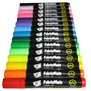 FabricMate Permanent Chisel Tip Fabric Markers