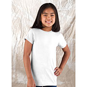 Girls Fine Jersey Longer Length T-shirt (Girls Longer Length Tee #GLLT)