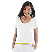 Ladies Deep Scoop Longer Length Tee