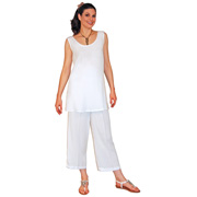 Women's Rayon Crop Pants