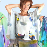 Silk Painting for Wearable Art by Natasha Foucault