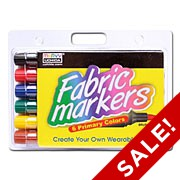 Brush Tip Fabric Markers - Sets of 6